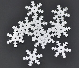 10g-Silver-Christmas-Snowflake-Sequins-Free-UK-postage-offer