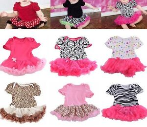 Lovely-Baby-Toddler-Girls-Ruffles-Tutu-skirt-Romper-One-Piece-Outfit-Dress-0-12M
