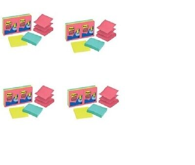 Lot Of 24 New Post-it 3 X 3 Refill Notes For Pop-up Note Dispenser 2160 Sheets