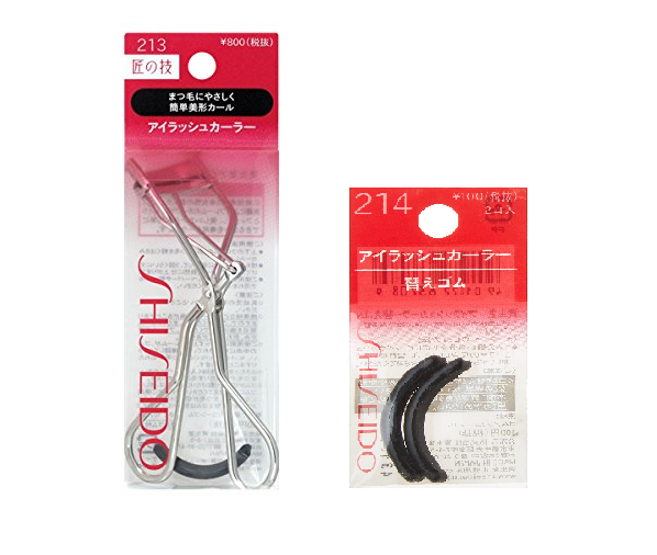 Shiseido Japan Eyelash Curler 213 with Silicone Rubber refill Pads Free Shipping