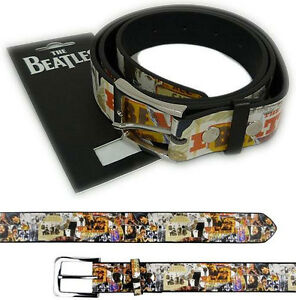 The-Beatles-Anthology-Artwork-Belt-With-Metal-Buckle-New-Official-With-Tag