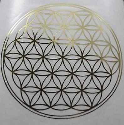 12-teiliges Set Aufkleber Blume des Lebens Fensterbild Heilige Geometrie