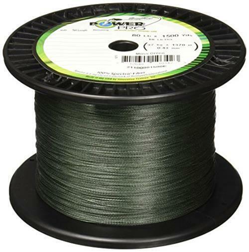 Moss Green 150YD//20LB Power Pro Spectra Fiber Braided Fishing Line