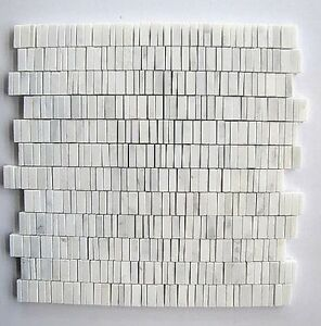 HONED MARBLE CHIP MOSAIC TILE , SUBWAY CARRARA MOSAIC TILE-backsplash, border