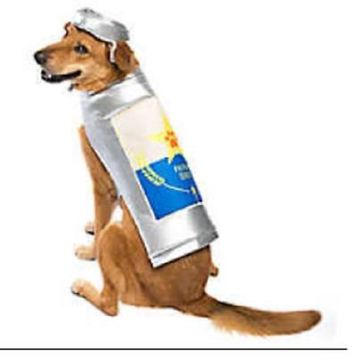 Dog ~ BEER Beer Can Themed  ~ Halloween Costume ~  S  M `~ NEW ()