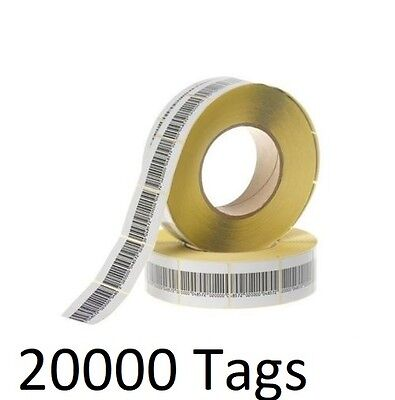 20000 Pcs Eas Checkpoint Barcode Soft Label Tag 8.2 4 X 4 Cm 1.57 X 1.57 Inch