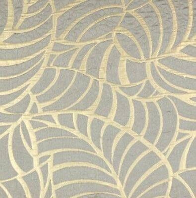 "3 YD HOME SECRETS AMAZON LEAF GOLD DESIGN JACQUARD 114"" WIDE UPHOLSTERY FABRIC"