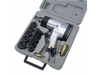 """Draper 55360 - 15 Piece 1/2"""" Square Drive Heavy Duty Air Impact Wrench Kit (8224/8/MM)"""