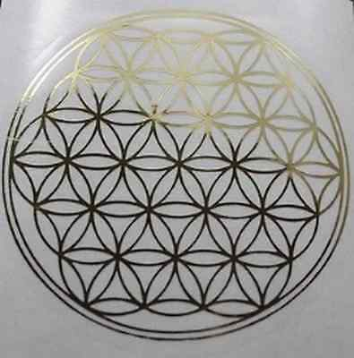 10 Aufkleber Blume des Lebens Fensterbild Heilige Geometrie 20 mm
