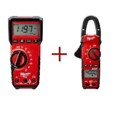 Clamp Meter Value Bundle Digital Multimeter Led Work Light Test Meter 400 Amp