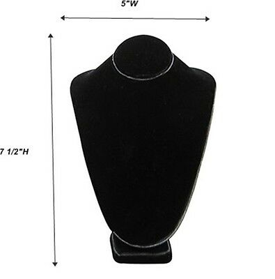 Black Necklace Pendant Chain Display Bust 5w X 4 18d X 7 12h