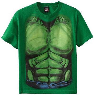 Marvel Hulk Smash Muscles Chest Costume Tee T-Shirt Suit Boys Kids Youth - Hulk Boys Costume