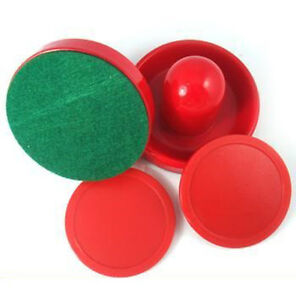 New Mini Air Hockey 75mm Goalies 50mm Pucks Felt Pusher Set USA Seller