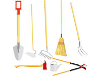 Large selection garden tools and mowers for sale