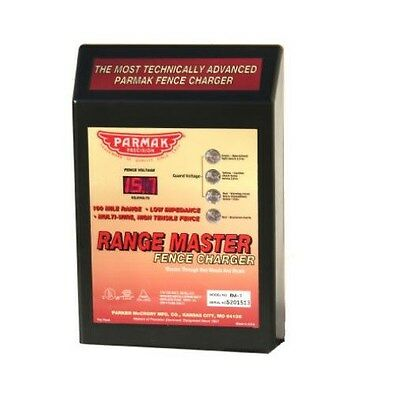 Parmak Range Master Advanced Electric Fence Charger Rm-1 - 100 Mile Range