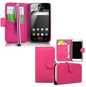 LEATHER CREDIT CARD WALLET CASE FOR SAMSUNG MOBILE PHONE SIDE FLIP COVER POUCH