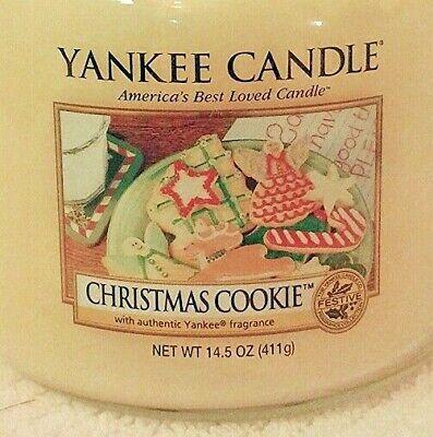 Yankee Candle CHRISTMAS COOKIE MEDIUM JAR Festive NEW 14.5 OZ HOUSEWARMER FAST!