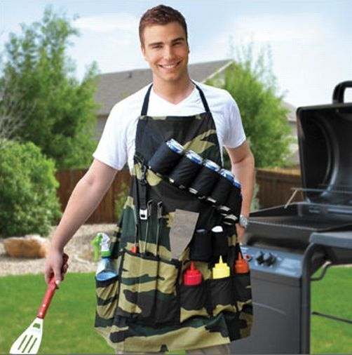 APRON CAMO BBQ BARBECUE GRILL BEER CANS BELT KITCHEN COOKING OUTDOOR CAMOUFLAGE