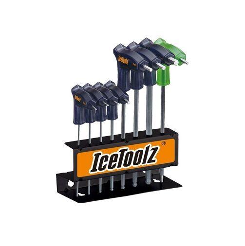 IceToolz 7M85 Bike Bicycle TwinHead Wrench Set 2x2.5x3x4x5x6x8mm hex + T-25 Star