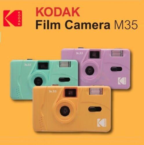 NEW - Kodak Vintage Retro M35 35mm Reusable Film Camera Pink Green Yellow Purple