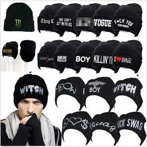 Unisex-Men-039-s-Women-039-s-Hat-Warm-Winter-Cotton-Knit-Cap-Hip-hop-Skull-Beanie-Hats