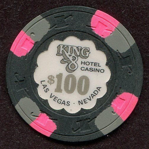 $100 Las Vegas King 8 Casino Chip - UNCIRCULATED