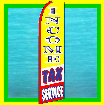 Income Tax Service Swooper Flag Advertising Feather Swooper Flutter Bow Banner