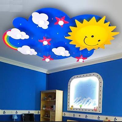 Sky Sun Rainbow Star Led Ceiling Light Pendant Lamp Lighting Kid Child Bedroom