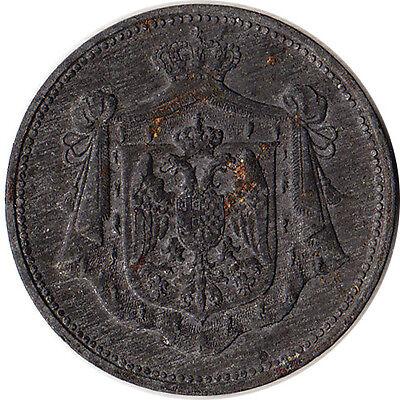 1920 Yugoslavia 10 Para Zinc Coin Petar I KM#2
