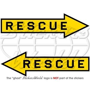 RESCUE-Air-Force-Aircraft-Arrow-RAF-USAF-NATO-140mm-Vinyl-Stickers-Decals-x2