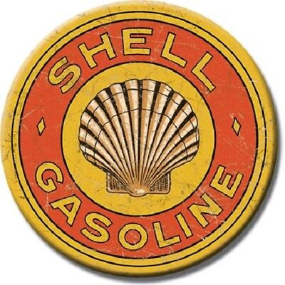 """3"""" Round     GAS and OIL  Set of 4 Refrigerator or Tool Box Magnets NEW!"""