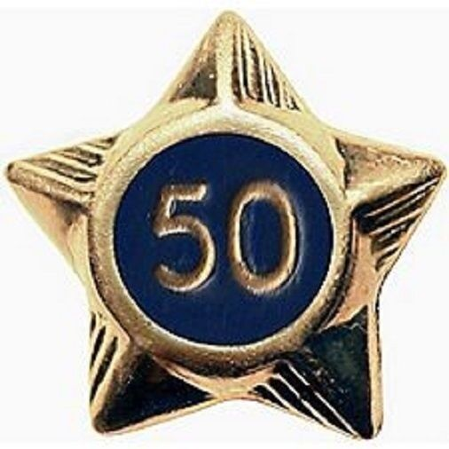 BOY SCOUT OFFICIAL UNIFORM SERVICE STAR YEAR PIN 1 2 3 4 5 6 7 8 9 10 20 30 50