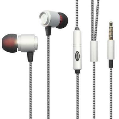 HI-FI SOUND EARBUDS HANDS-FREE EARPHONES W MIC DUAL METAL B0