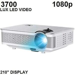 XINDA 1080P PROJECTOR FULL HD 1080P 3700 LUX LED VIDEO PROJECTOR
