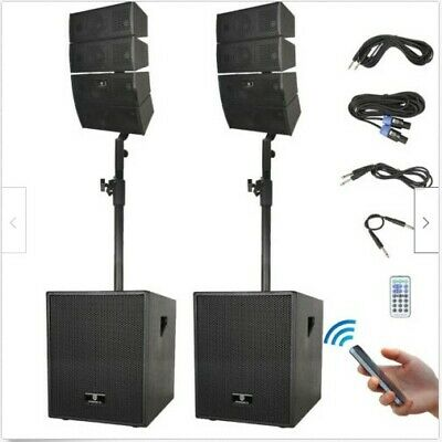 PRORECK 12-Inch 3000W Bluetooth PA Speaker System Line Array Speaker Subwoofer