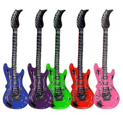 4 Stück Aufblasbare Luftgitarren Bunt 100cm Luftgitarre Luft Gitarre Air Guitar