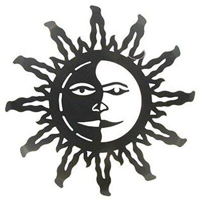 Dark Bronze Metal Sun Face Wall Decor, Garden  Tuscan Sun Garden