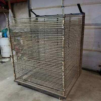 Heavy Duty Steel Screen Printing Drying Rack 36 X 48