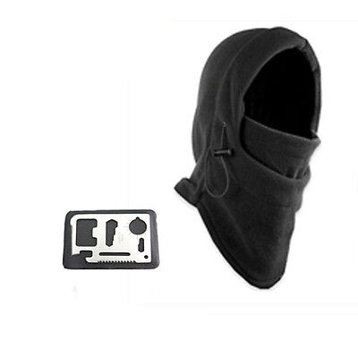 Sporting Survival Kit Knife Card Winter Ski Mask Beanie Emergency Gear Hats