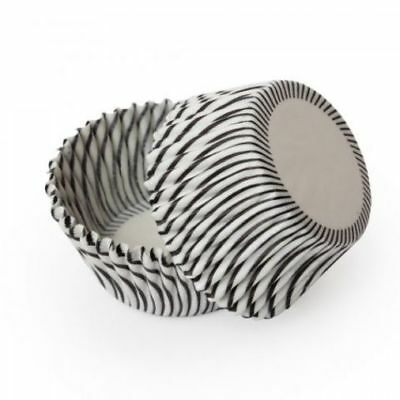 Black White Swirl Stripe Standard Cupcake Liners Baking Cups Grease Proof Stripes Standard Baking Cups