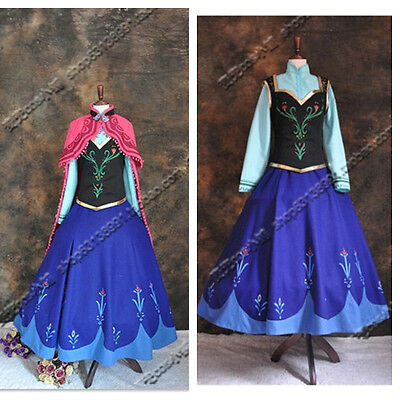 frozen Movie set Anna princess Halloween Party costume cosplay for adult (Anna Frozen Costumes For Adults)