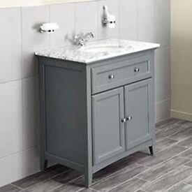 BATHSTORE - Bathroom Freestanding - VANITY UNIT ONLY - GREY -SAVOY 790MM