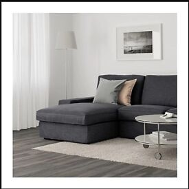 IKEA Kivik Two-seat sofa and chaise longue - Hillared anthracite