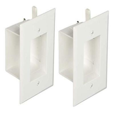 DataComm 45-0008-WH 1-Gang  Recessed Low Voltage Wall Cable