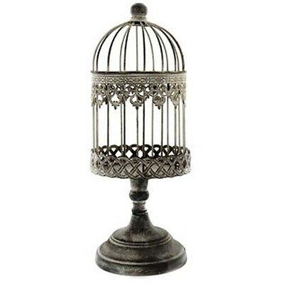 Antique Sliver LOOK Iron Bird Cage on Stand. Amazing Simple Design Home Decor.