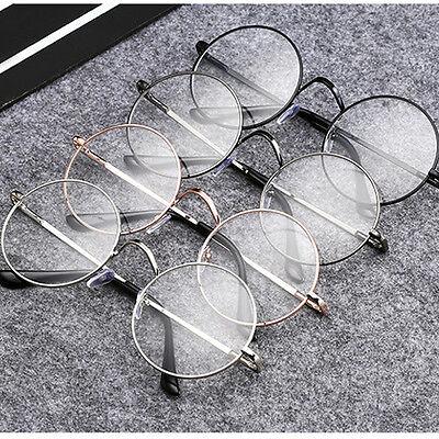 c3a49695f66c Fashion Men Women Vintage Clear Lens Eyeglasses Retro Round Frame Unisex  Glasses