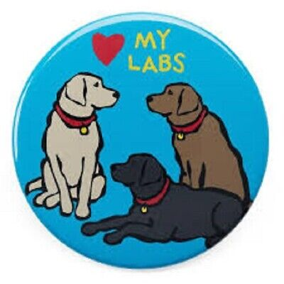 LABRADOR DOGS MAGNET BY MARC TETRO GREAT LITTLE GIFT FAST DISPATCH
