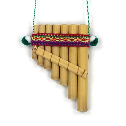 Mini Antara or Single Row Peruvian Pan Pipes - Panpipes Made Fair Trade in Peru