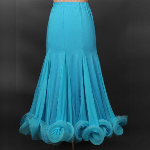 Hot Fishbone edge Modern Dance skirt Ballroom Dancing Overskirt full Dance Dress