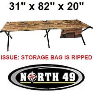 NORTH 49 CAMOUFLAGE STEEL FRAME CAMP COT